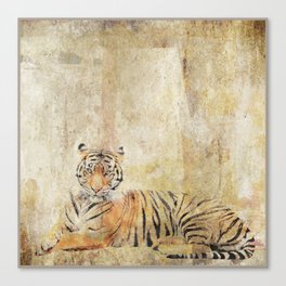 Roaring Tiger Stripes Canvas Print