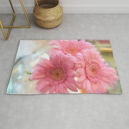 To Be Yourself - Flower Art Rug