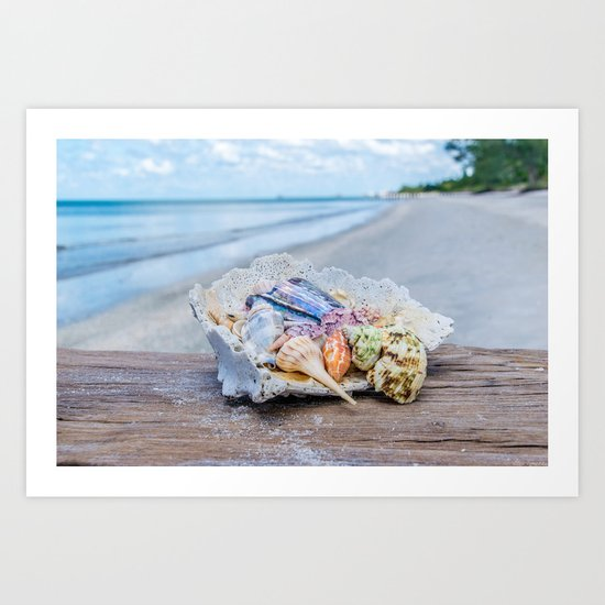 Sea Gems Art Print