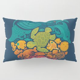 Aquatic Rainbow Pillow Sham