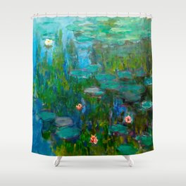 Water Lilies by Monet Shower Curtain