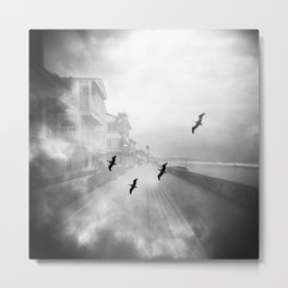 """Birds of a Feather"" Holga Double Exposure in San Diego, California Metal Print"