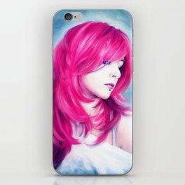 ' Pink Head ' - sensual lady digital oil portrait painting iPhone Skin