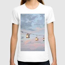 City Traffic Lights Sunset  T-shirt