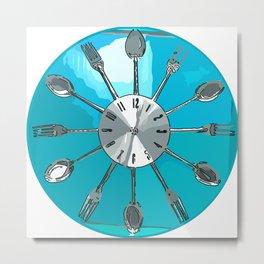 Cutlery O'clock Metal Print