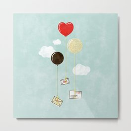 Love Letters by Air Mail Metal Print