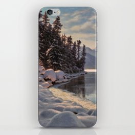 Winter Sunrise Lakeside in the Mountains by Ivan Fedorovich Choultsé iPhone Skin