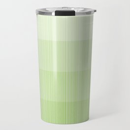 Four Shades of Light Green with Stripes Travel Mug
