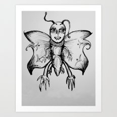 Fly Butterfly Art Print