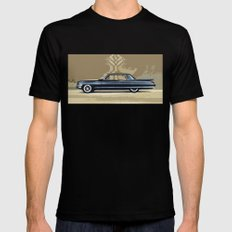 1961 Cadillac Fleetwood Sixty-Special Black 2X-LARGE Mens Fitted Tee