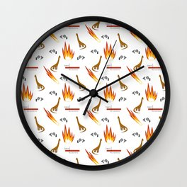 Mesozoic Extinction Event Pattern Wall Clock
