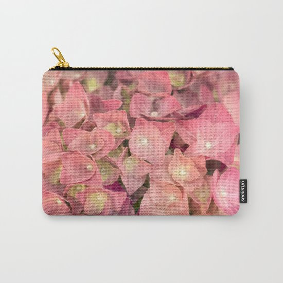 Pink hydrangea in LOVE - Flower floral Carry-All Pouch