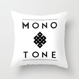 Eternal Monotone Throw Pillow