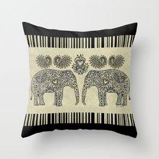 Elephant Muladhara Throw Pillow