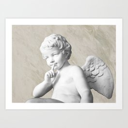 Ancient Sculpture Angel Decor Art Print