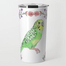 Parakeet in Green Travel Mug