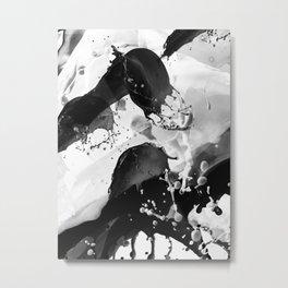Black and white drops Metal Print