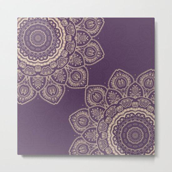 Lavender Tulips Metal Print