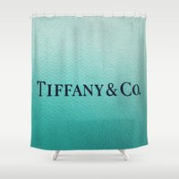 tiffany Shower Curtains featuring Tiffany by Christine Leanne