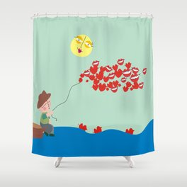 Cazador de sonrisas Shower Curtain