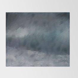 Blue Stormy Sea Throw Blanket