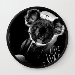 Koala test Wall Clock