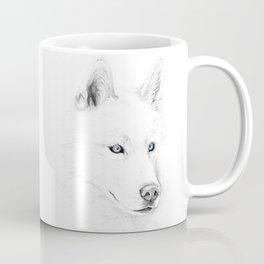 Saber :: A Siberian Husky Coffee Mug