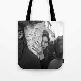 Flower Market Girl Tote Bag