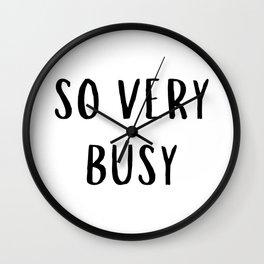 So Very Busy Wall Clock