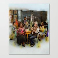 community Canvas Prints featuring Community by rcknroby