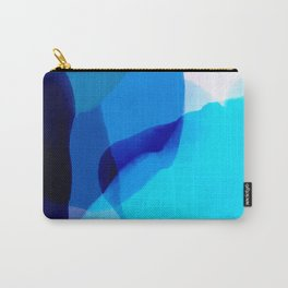 blue winter ice now abstract watercolor Carry-All Pouch