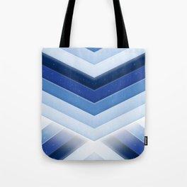 Starlight Blue Stripes Tote Bag
