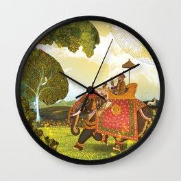 Royal trip at the time of Mughal era Wall Clock