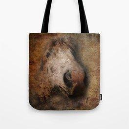 Vintage portrait of the horse Tote Bag