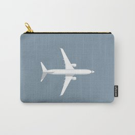 737 Passenger Jet Airliner Aircraft - Slate Carry-All Pouch