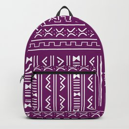 Bogolan pattern violet Backpack