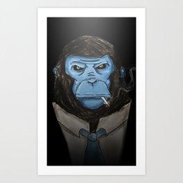 BlueMonkeyinTheSuit Art Print