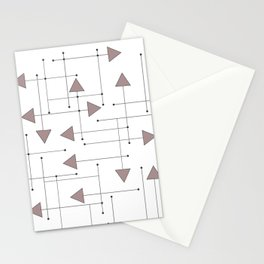 Lines & Arrows Stationery Cards