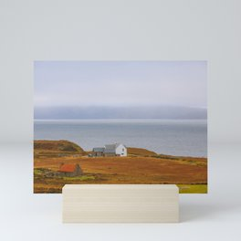 Winter Cottage by the sea   Scotland, UK   Nature Landscape Travel Photography   Wall Art Decor Mini Art Print