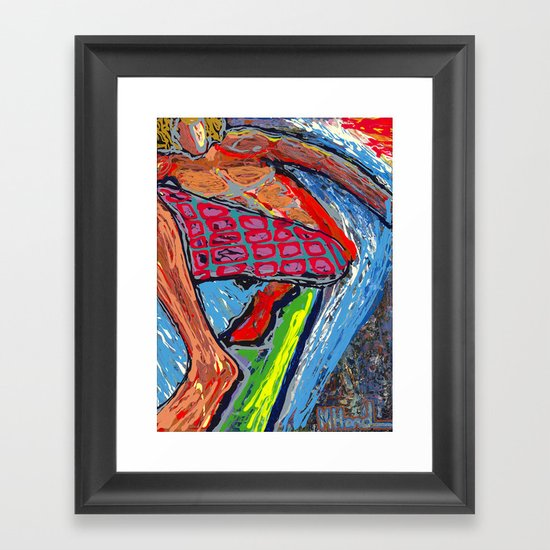 Tasty Waves Framed Art Print