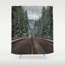 Winter Road Trip - Pacific Northwest Nature Photography Shower Curtain