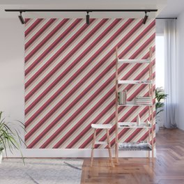 Pomade Tones Inclined Stripes Wall Mural