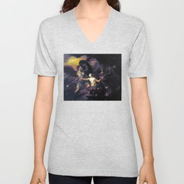 Satan, Sin and Death, Scene from Miltons Paradise Lost, William Hogarth 1735 Unisex V-Neck