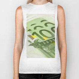 100 euro banknotes Biker Tank