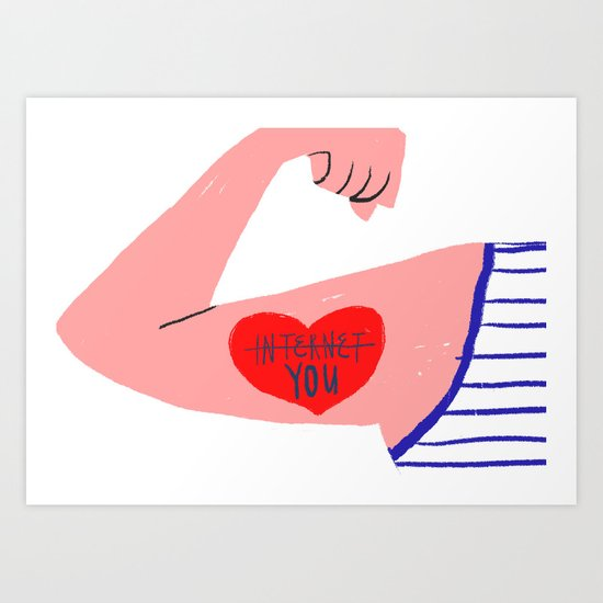 I love you (and the internet) Art Print