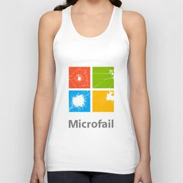 Microfail - What do you want to break today? Unisex Tank Top