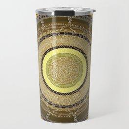 Opening on Black Background Travel Mug