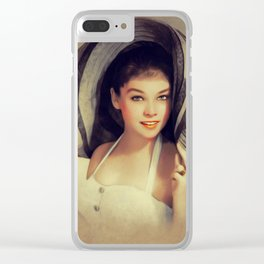 Yvonne Craig, Vintage Actress Clear iPhone Case