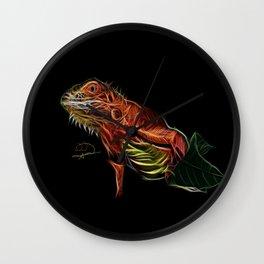 Iguana abstracto Wall Clock