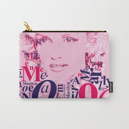 Typographic image Monroe Carry-All Pouch